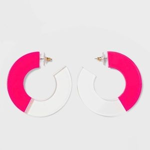 Sugarfix by Baublebar Pink Clear Circle Earrings